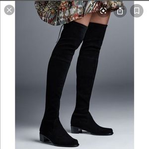Midland black suede OTK boots